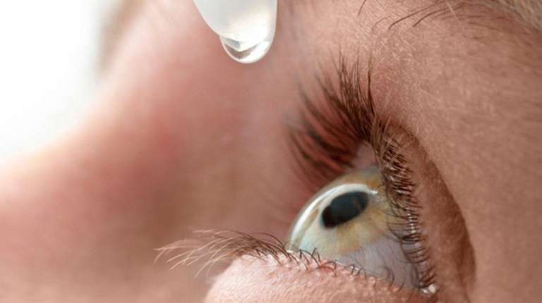 Eyedrops can help relieve symptoms of conjunctivitis.