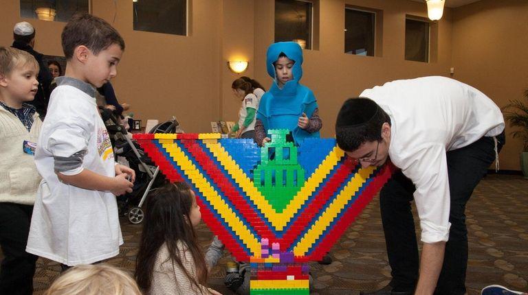 Hanukkah celebrations at the Chabad of Port Washington