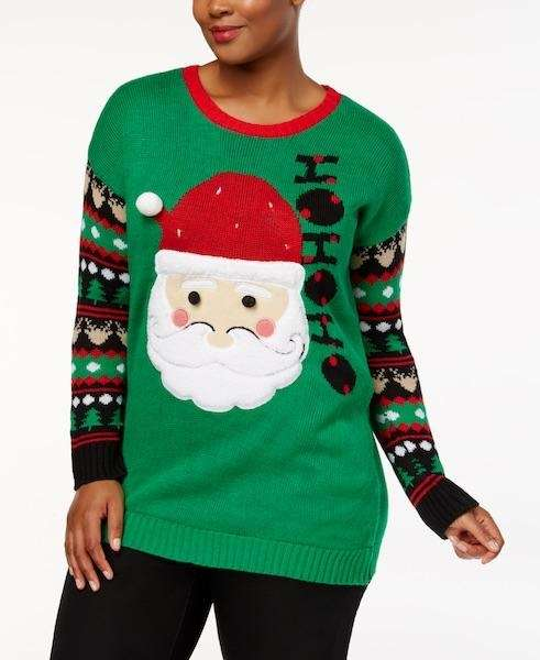 From Santa to reindeers, this sweater features all