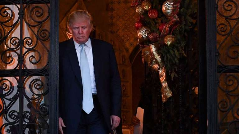 Donald Trump at Mar-a-Lago on Dec. 28, the