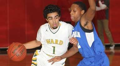 Ward Melville's Robert Soto (1) drives to the