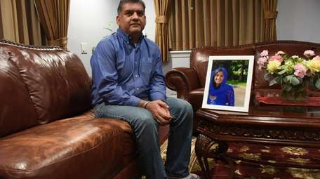 Ranjit Parmar, at his Levittown home, Friday, Dec
