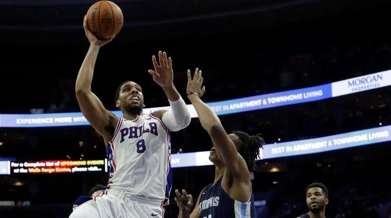 Jahlil Okafor in action during a preseason game