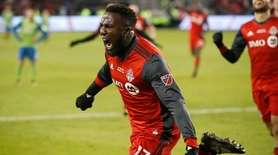 Toronto FC forward Jozy Altidore celebrates his goal