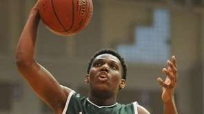 Valley Stream North's Taliq Abdul-Rahim drives to the