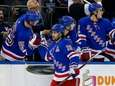 Mats Zuccarello of the New York Rangers celebrates