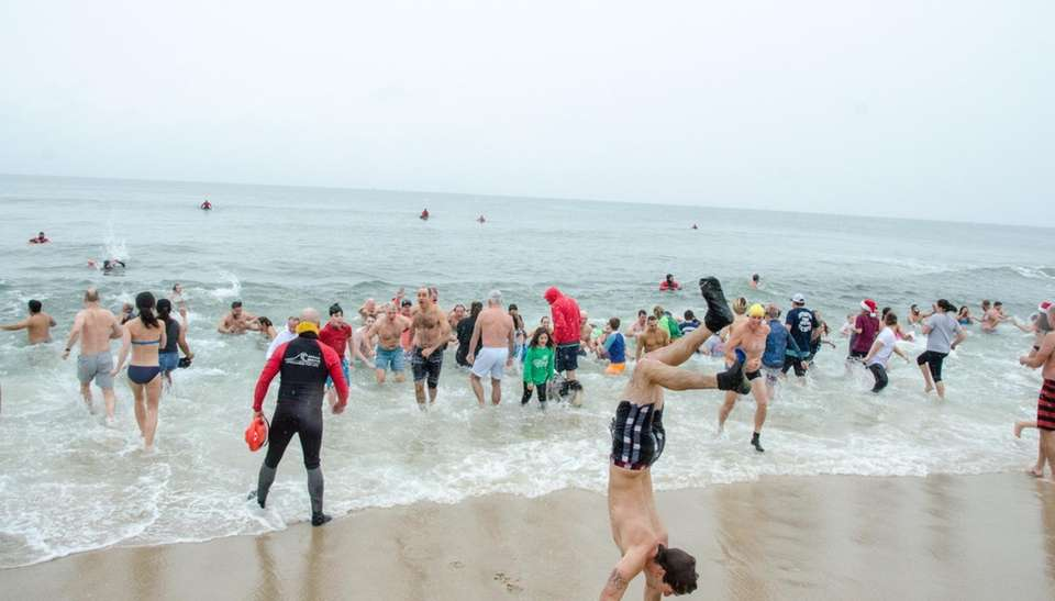 Polar plungers at the Heart of the Hamptons
