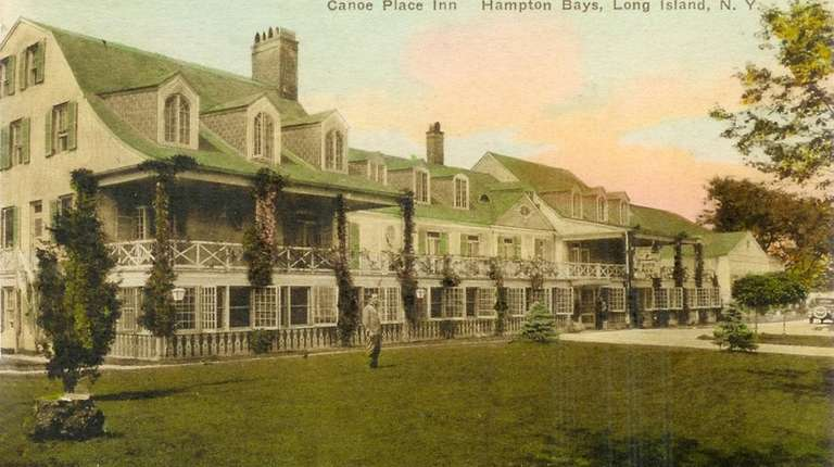 Historic shot of the Canoe Place Inn in