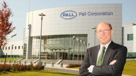 Pall Corp. chief executive Eric Krasnoff outside company