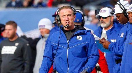 Interim head coach Steve Spagnuolo of the Giants