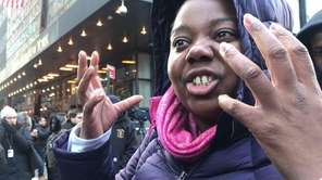 Christina Bethea of Yonkers describes the scene at