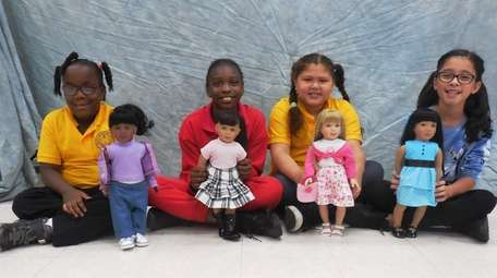 Kidsday reporters, from left, Nyla Daleus, Imani Brown-Edwards,