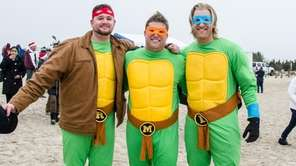 Ninja turtles were among the participants at the