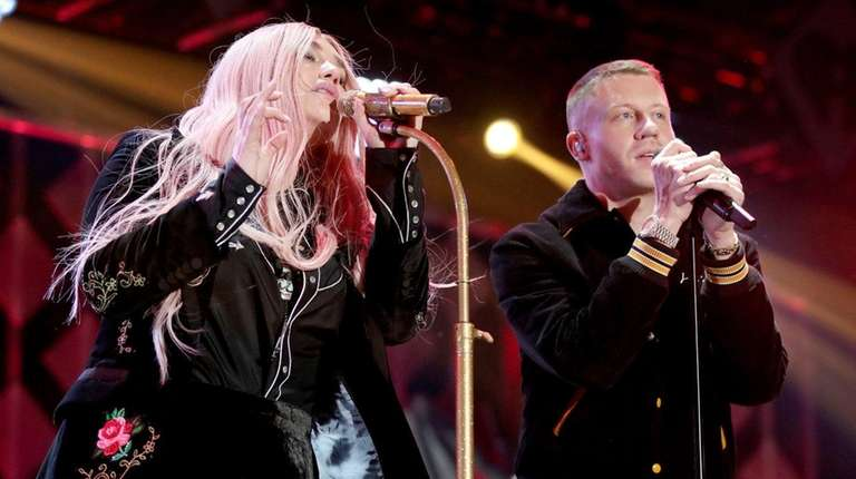 Kesha and Macklemore perform at 102.7 KIIS FM's