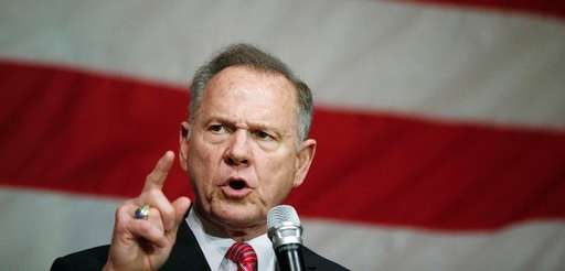 U.S. Senate candidate Roy Moore at a campaign