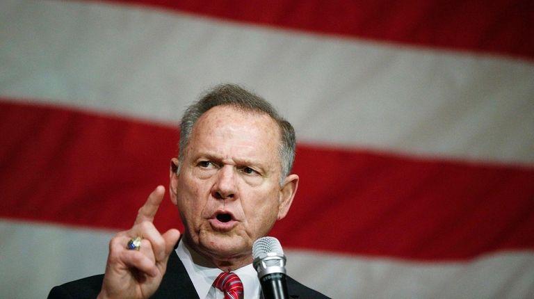 U.S. Senate candidate Roy Moore at a campaign