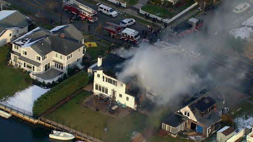 Two homes caught fire in Massapequa on Monday,