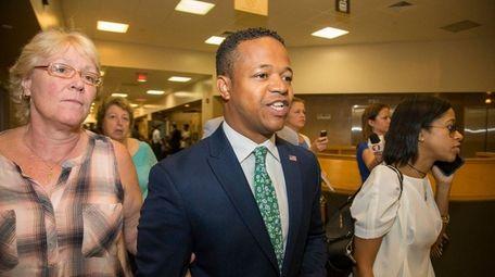 Nassau legislator Carrié Solages leaves Nassau District Court