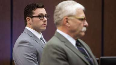 Former Mesa police officer Philip Brailsford, left, and