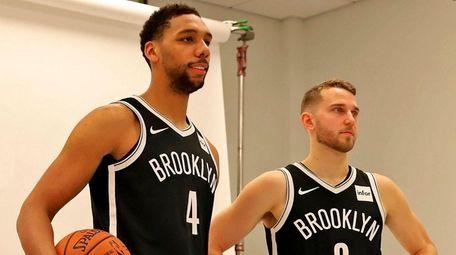 New Nets players Jahlil Okafor and Nik Stauskas