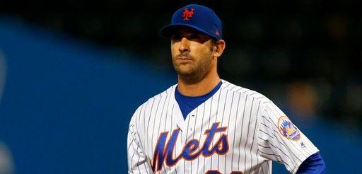 Matt Harvey of the Mets stands on the