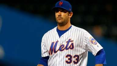 Matt Harvey of the Mets stands on the
