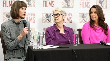 From left, Rachel Crooks, Jessica Leeds and Samantha