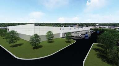 A rendering shows the 195,000-square-foot e-commerce warehouse Lincoln