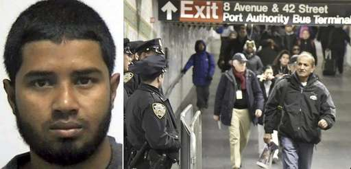 Akayed Ullah, 27, left, of Brooklyn, is suspected