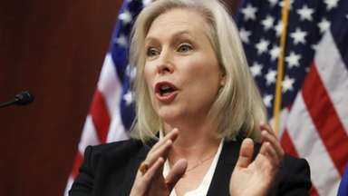 Sen. Kirsten Gillibrand, D-N.Y., answers a question about