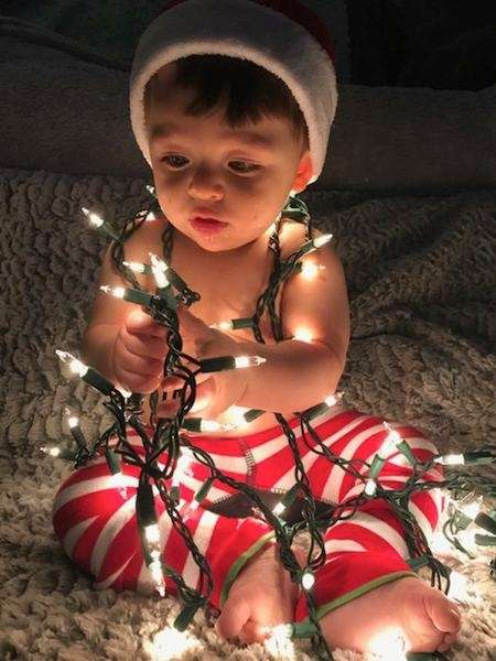 Our Grandson Jack Snow's First Christmas. Yes, 'tis