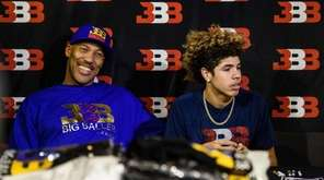 LaVar Ball (L), father of basketball player LiAngelo