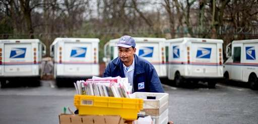 A U.S. Postal Service letter carrier in Atlanta.