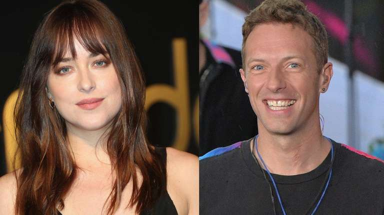 Dakota Johnson and Chris Martin were spotted