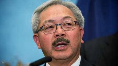 San Francisco Mayor Ed Lee speaks during a