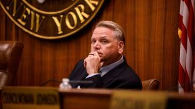 Oyster Bay Councilman Anthony Macagnone, seen in July,