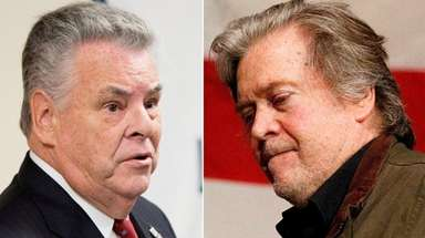 Rep. Peter King, left, says that Republicans must