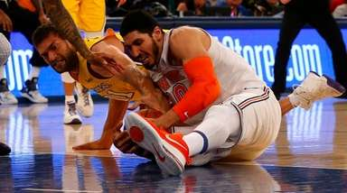 Enes Kanter on the Knicks battles for a