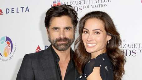 John Stamos and Caitlin McHugh in Beverly Hills,