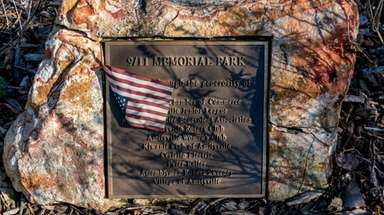 The 9/11 Memorial Park in Amityville, shown on