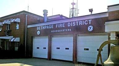 Voters in the Bethpage Fire District, and dozens