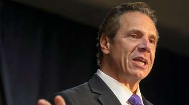 Gov. Andrew M. Cuomo faced with a question