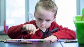 Albertson kindergartner Rhett Pace, 5, invented what he