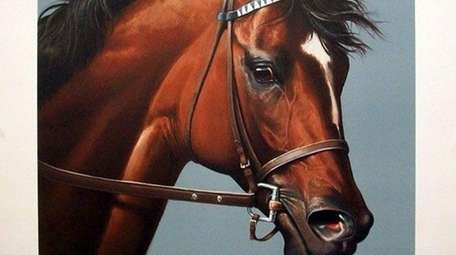 A rare print of the racehorse Cigar was