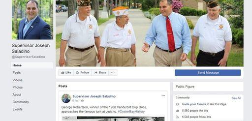Oyster Bay officials say Supervisor Joseph Saladino's Facebook