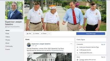 Oyster Bay officials say Supervisor Joseph Saladino's Facebook
