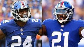 This Newsday composite image shows Giants cornerback Eli