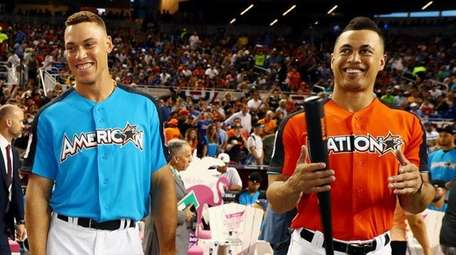 Home Run Derby participants Aaron Judge of the