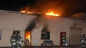 Firefighters from five departments battled a blaze Friday,