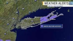 A winter weather advisory is in effect from